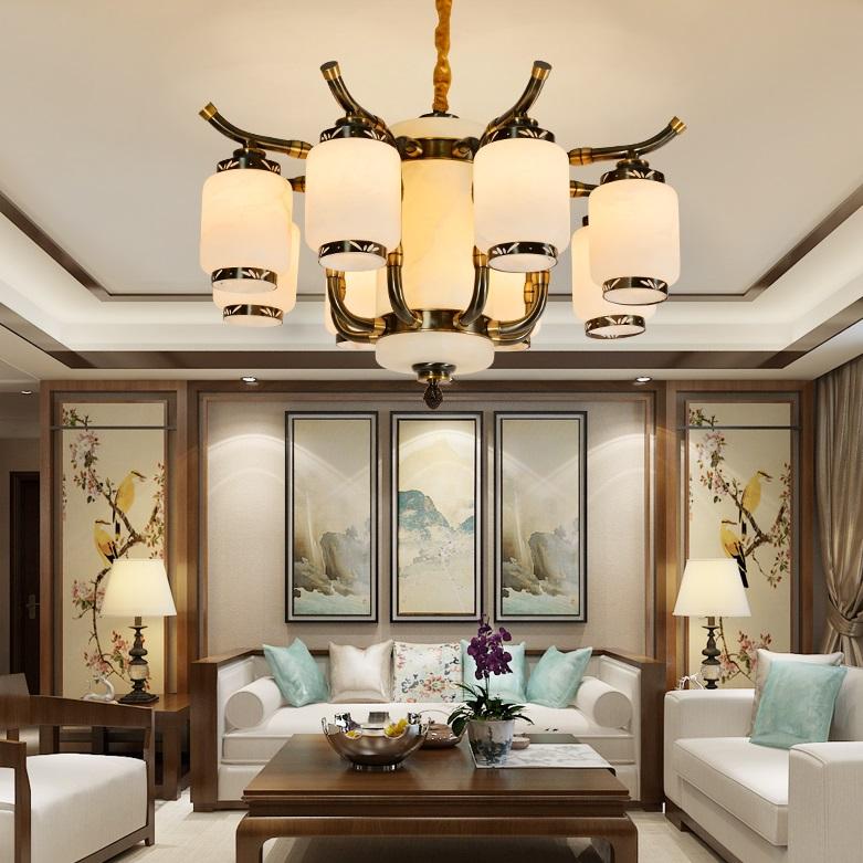 新中式铜灯 中式全铜吊灯 纯铜吊灯定制