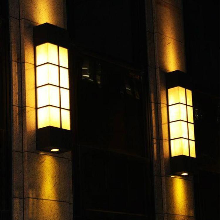 户外云石壁灯 不锈钢壁灯 室外仿云石壁灯定制