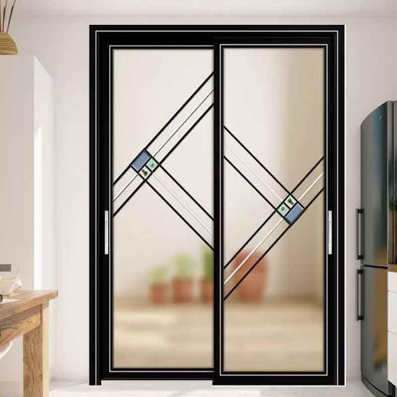 厂家定制工程铝合金推拉门 厨房阳台玻璃吊趟门钛镁合金推拉移门