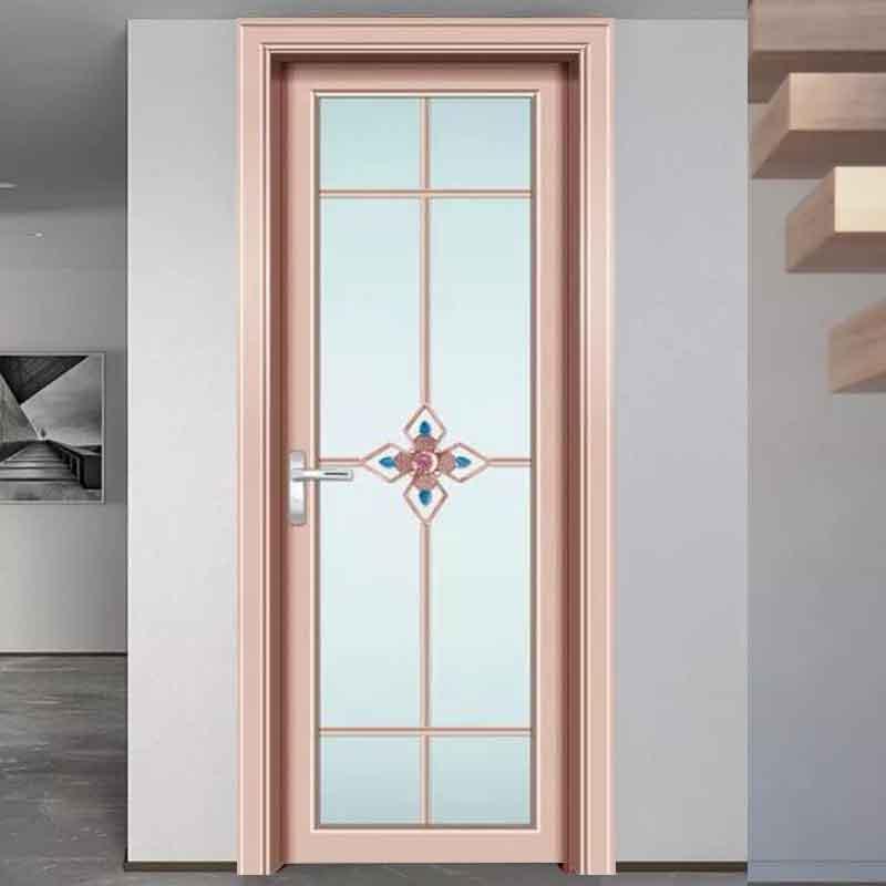 厂家批发现货铝合金卫生间门报价 家用洗手间浴室门玻璃卫浴门