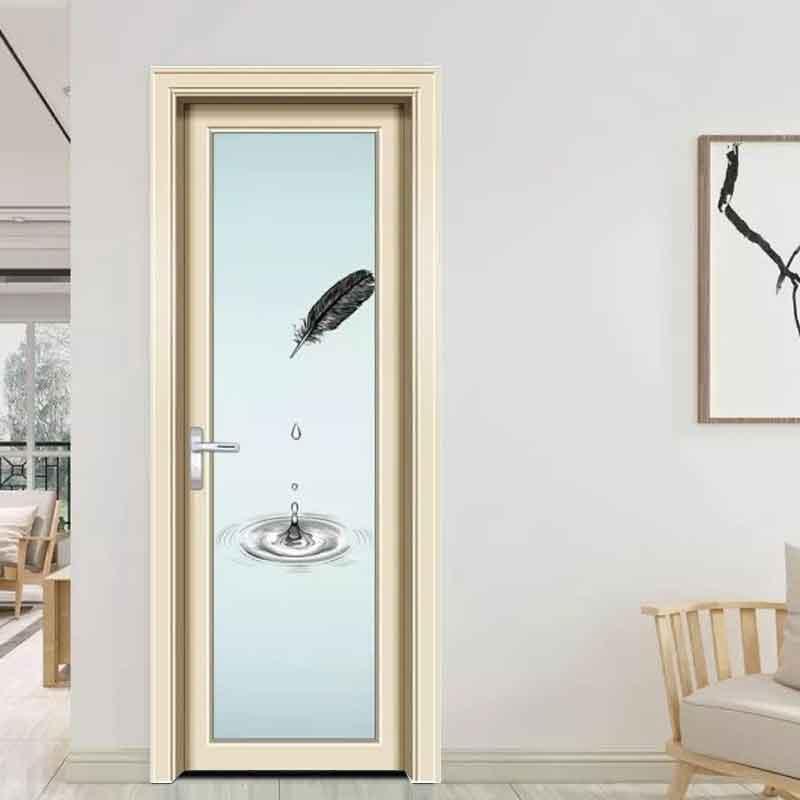 厂家现货批发铝合金卫生间门报价 工程宿舍玻璃厕所门厨房卫浴门