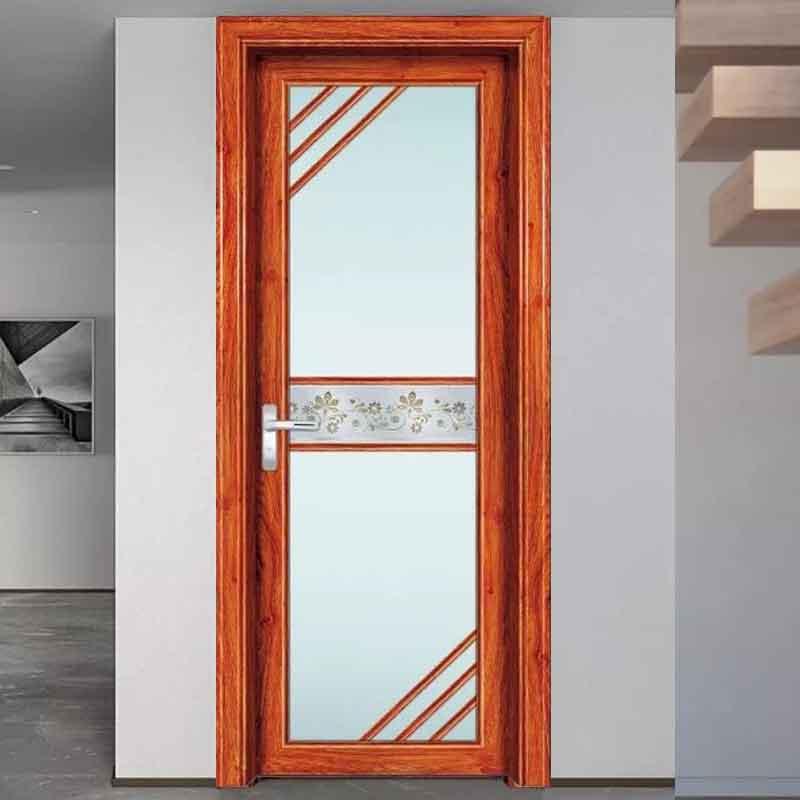 厂家定制卫生间铝合金门价格 钛镁铝合金卫生间厕所门双开玻璃门