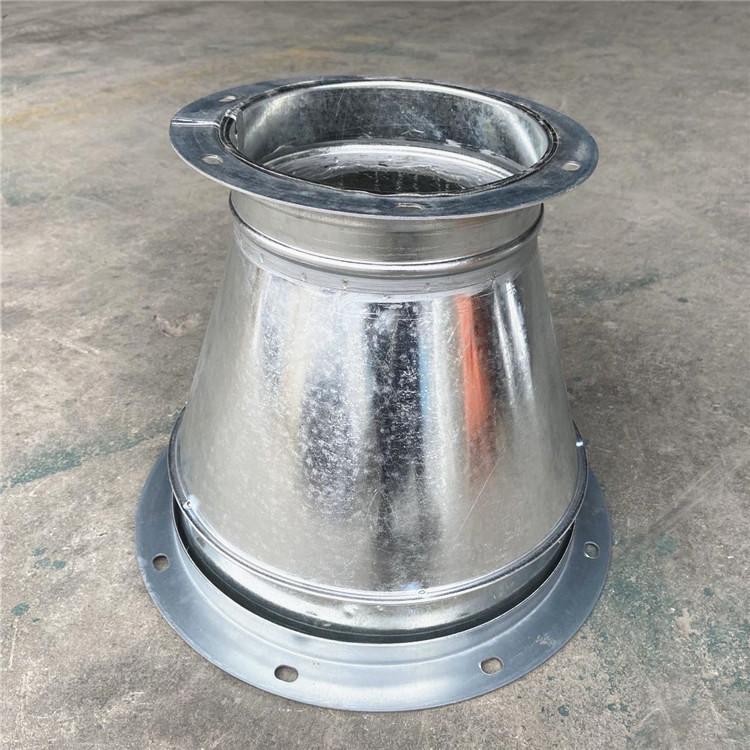 加工镀锌风管配件大小头 除尘管道工程产品图片高清大图,本图片由佛山市瑞通通风设备有限公司提供。
