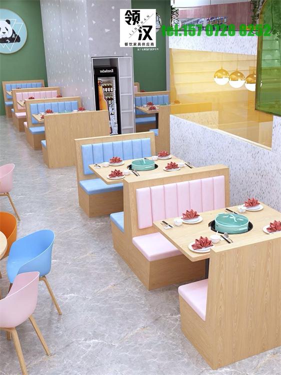 领汉家具针对甜品店沙发卡座定制讲解产品图片高清大图,本图片由武汉领汉家具有限公司提供。