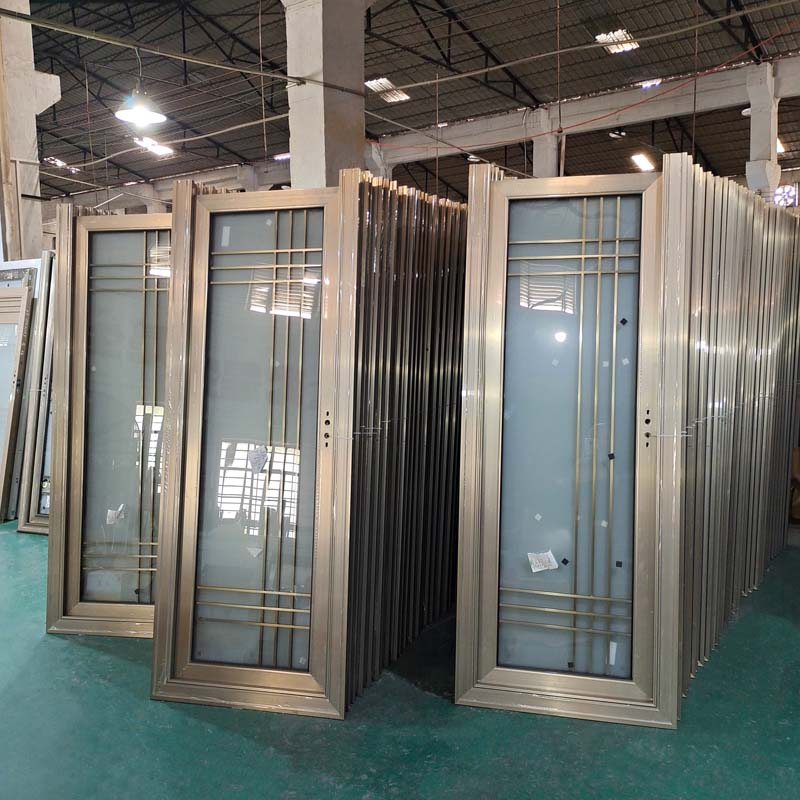 卫生间门厕所门钛镁铝合金家用洗手间门钢化玻璃厨房门定制配套图片
