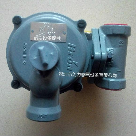 ITRON调压阀B42R煤气减压阀��B42N液化气减压阀产品图片高清大图,本图片由深圳市创力燃气设备有限公司提供。