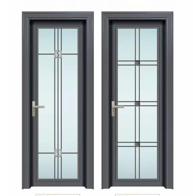 工程玻璃卫生间门厂家批发,简约房间卫生间隔断厕所门,玻璃卫浴门配套图片