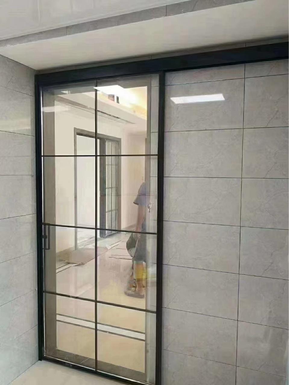 定制极窄边推拉门,厨房隔断简约推拉玻璃门,隔音客厅铝合金移门